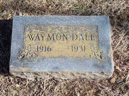 DALE, WAYMON - Washington County, Arkansas | WAYMON DALE - Arkansas Gravestone Photos