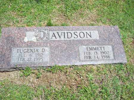 DAVIDSON, EMMETT - Washington County, Arkansas | EMMETT DAVIDSON - Arkansas Gravestone Photos
