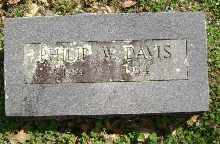 DAVIS, PHILIP W. - Washington County, Arkansas   PHILIP W. DAVIS - Arkansas Gravestone Photos
