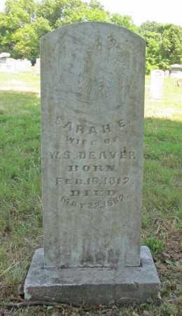 DEAVER, SARAH E - Washington County, Arkansas | SARAH E DEAVER - Arkansas Gravestone Photos