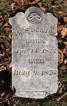 DEAVER, WILLIAM S - Washington County, Arkansas | WILLIAM S DEAVER - Arkansas Gravestone Photos