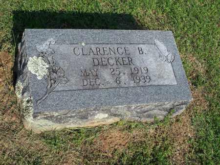 DECKER, CLARENCE B. - Washington County, Arkansas | CLARENCE B. DECKER - Arkansas Gravestone Photos