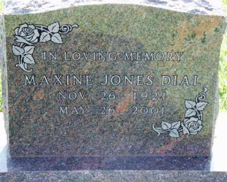DIAL, MAXINE - Washington County, Arkansas | MAXINE DIAL - Arkansas Gravestone Photos