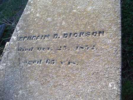 DICKSON, EPHRAIM D. - Washington County, Arkansas | EPHRAIM D. DICKSON - Arkansas Gravestone Photos