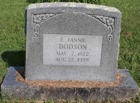 """DODSON, E. FRANCES """"FANNIE"""" - Washington County, Arkansas   E. FRANCES """"FANNIE"""" DODSON - Arkansas Gravestone Photos"""