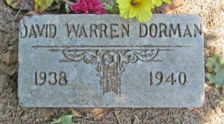 DORMAN, DAVID WARREN - Washington County, Arkansas | DAVID WARREN DORMAN - Arkansas Gravestone Photos