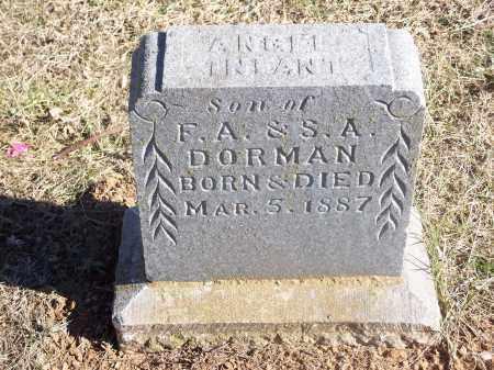 DORMAN, INFANT SON - Washington County, Arkansas | INFANT SON DORMAN - Arkansas Gravestone Photos