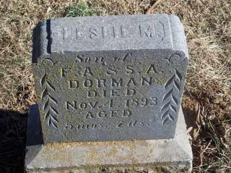 DORMAN, LESLIE M. - Washington County, Arkansas | LESLIE M. DORMAN - Arkansas Gravestone Photos