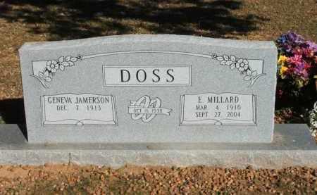 DOSS, ERIE MILLARD - Washington County, Arkansas | ERIE MILLARD DOSS - Arkansas Gravestone Photos