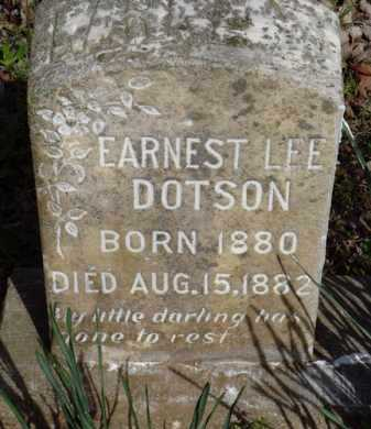 DOTSON, EARNEST LEE - Washington County, Arkansas | EARNEST LEE DOTSON - Arkansas Gravestone Photos