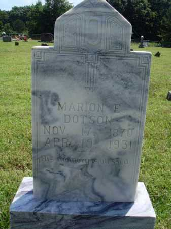 DOTSON, MARION E. - Washington County, Arkansas | MARION E. DOTSON - Arkansas Gravestone Photos