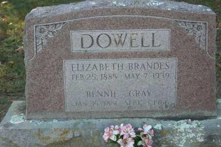 DOWELL, ELIZABETH - Washington County, Arkansas | ELIZABETH DOWELL - Arkansas Gravestone Photos