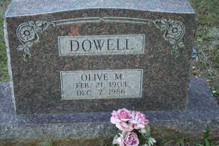 DOWELL, OLIVE M. - Washington County, Arkansas | OLIVE M. DOWELL - Arkansas Gravestone Photos