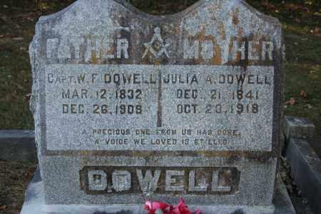 DOWELL, JULIA A. - Washington County, Arkansas | JULIA A. DOWELL - Arkansas Gravestone Photos