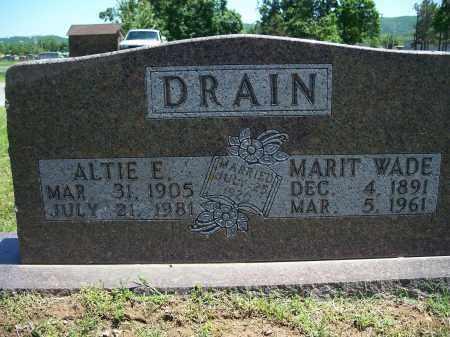 DRAIN, ALTIE E. - Washington County, Arkansas | ALTIE E. DRAIN - Arkansas Gravestone Photos