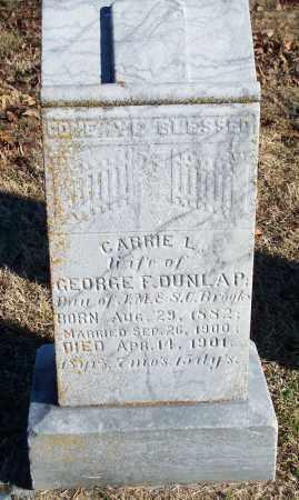 DUNLAP, CARRIE L. - Washington County, Arkansas | CARRIE L. DUNLAP - Arkansas Gravestone Photos