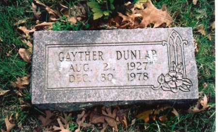 DUNLAP, ORAN GAYTHER - Washington County, Arkansas | ORAN GAYTHER DUNLAP - Arkansas Gravestone Photos