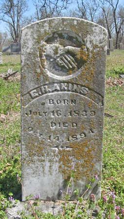 AKINS, E H - Washington County, Arkansas   E H AKINS - Arkansas Gravestone Photos