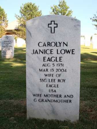 EAGLE, CAROLYN JANICE - Washington County, Arkansas | CAROLYN JANICE EAGLE - Arkansas Gravestone Photos