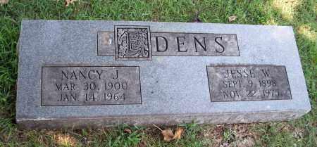 EDENS, JESSE W - Washington County, Arkansas | JESSE W EDENS - Arkansas Gravestone Photos