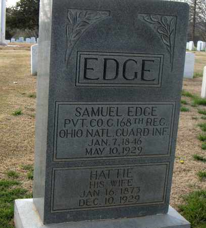 EDGE (VETERAN), SAMUEL - Washington County, Arkansas | SAMUEL EDGE (VETERAN) - Arkansas Gravestone Photos