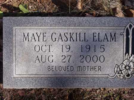 ELAM, MAYE - Washington County, Arkansas   MAYE ELAM - Arkansas Gravestone Photos