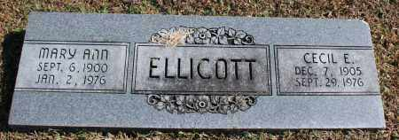 ELLICOTT, CECIL E. - Washington County, Arkansas | CECIL E. ELLICOTT - Arkansas Gravestone Photos