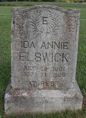 ELSWICK, IDA ANNIE - Washington County, Arkansas | IDA ANNIE ELSWICK - Arkansas Gravestone Photos