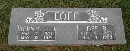 EOFF, BERNIECE I. - Washington County, Arkansas | BERNIECE I. EOFF - Arkansas Gravestone Photos