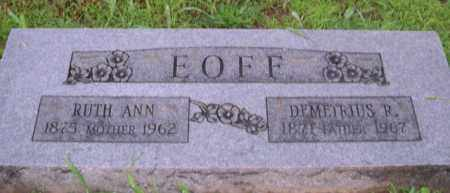 EOFF, DEMETRIUS R. - Washington County, Arkansas | DEMETRIUS R. EOFF - Arkansas Gravestone Photos