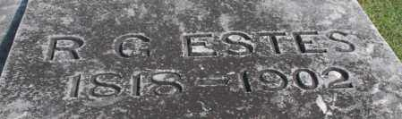 ESTES, R. G. (CLOSEUP) - Washington County, Arkansas | R. G. (CLOSEUP) ESTES - Arkansas Gravestone Photos