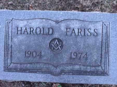 FARISS, HAROLD EDWARD - Washington County, Arkansas | HAROLD EDWARD FARISS - Arkansas Gravestone Photos