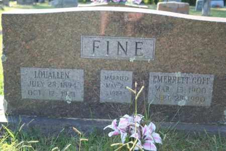 FINE, LOUALLEN - Washington County, Arkansas | LOUALLEN FINE - Arkansas Gravestone Photos