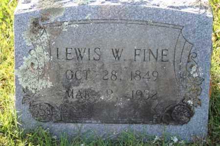 FINE, LEWIS W. - Washington County, Arkansas | LEWIS W. FINE - Arkansas Gravestone Photos