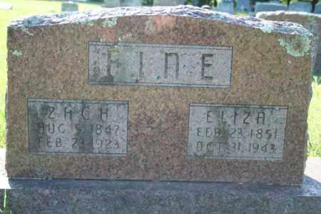FINE, ELIZA - Washington County, Arkansas | ELIZA FINE - Arkansas Gravestone Photos