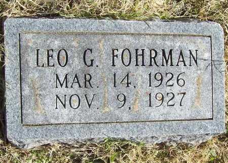 FOHRMAN, LEO G - Washington County, Arkansas | LEO G FOHRMAN - Arkansas Gravestone Photos