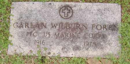 FOREN  (VETERAN), GARLAND WILBURN - Washington County, Arkansas | GARLAND WILBURN FOREN  (VETERAN) - Arkansas Gravestone Photos