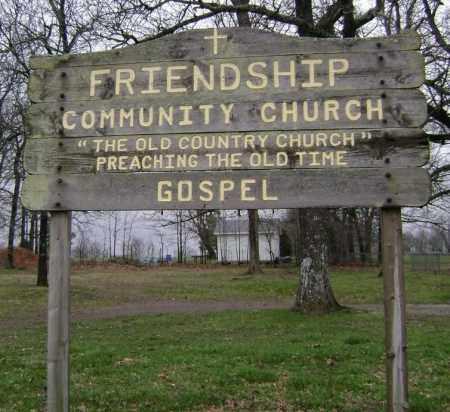*FRIENDSHIP COMMUNITY CHURCH S,  - Washington County, Arkansas |  *FRIENDSHIP COMMUNITY CHURCH S - Arkansas Gravestone Photos