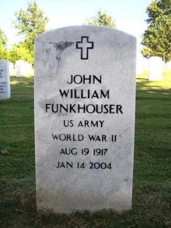 FUNKHOUSER  (VETERAN WWII), JOHN WILLIAM - Washington County, Arkansas   JOHN WILLIAM FUNKHOUSER  (VETERAN WWII) - Arkansas Gravestone Photos