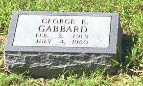 GABBARD, GEORGE E - Washington County, Arkansas | GEORGE E GABBARD - Arkansas Gravestone Photos