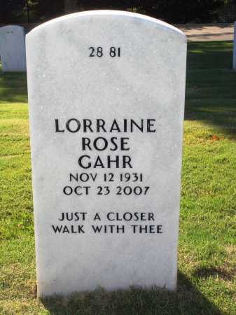 GAHR, LORRAINE ROSE - Washington County, Arkansas | LORRAINE ROSE GAHR - Arkansas Gravestone Photos