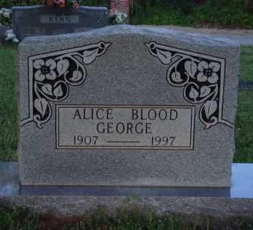 BLOOD GEORGE, ALICE - Washington County, Arkansas | ALICE BLOOD GEORGE - Arkansas Gravestone Photos