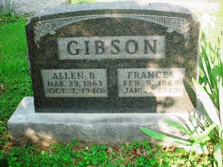 GIBSON, ALLEN B. - Washington County, Arkansas | ALLEN B. GIBSON - Arkansas Gravestone Photos