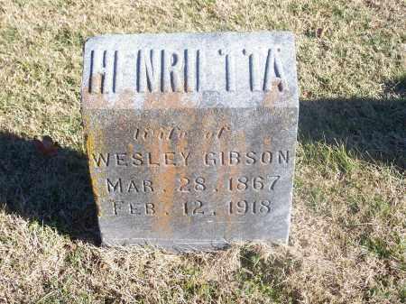 GIBSON, HENRIETTA - Washington County, Arkansas | HENRIETTA GIBSON - Arkansas Gravestone Photos