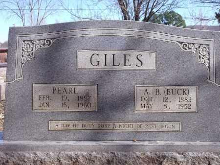 GILES, PEARL - Washington County, Arkansas | PEARL GILES - Arkansas Gravestone Photos