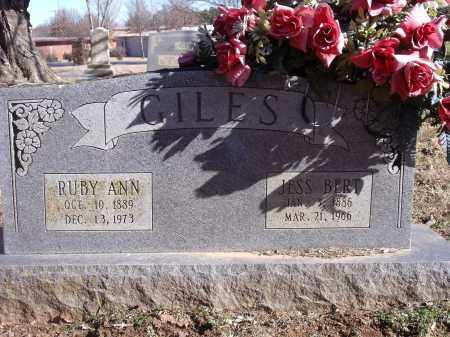 GILES, JESS BERT - Washington County, Arkansas | JESS BERT GILES - Arkansas Gravestone Photos