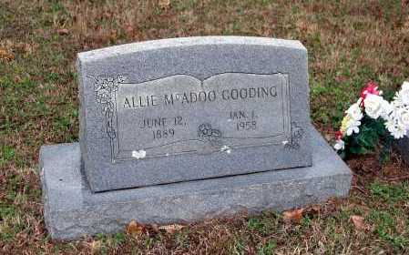 MCADOO GOODING, ALLIE - Washington County, Arkansas | ALLIE MCADOO GOODING - Arkansas Gravestone Photos