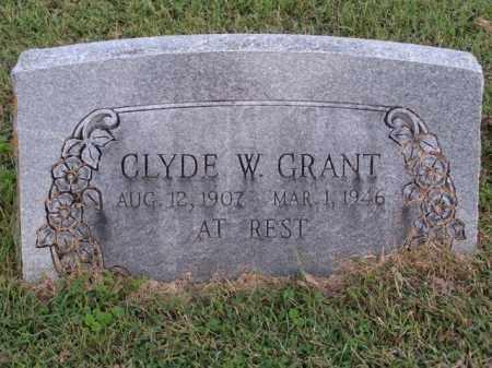 GRANT, CLYDE W. - Washington County, Arkansas | CLYDE W. GRANT - Arkansas Gravestone Photos