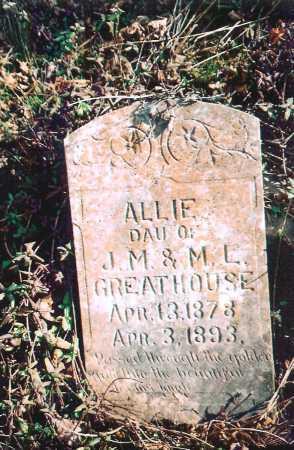 GREATHOUSE, ALLIE - Washington County, Arkansas   ALLIE GREATHOUSE - Arkansas Gravestone Photos