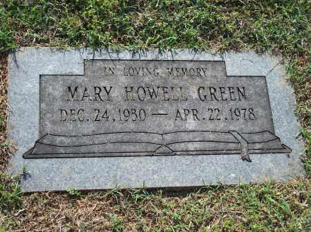 HOWELL GREEN, MARY (ORIGINAL) - Washington County, Arkansas | MARY (ORIGINAL) HOWELL GREEN - Arkansas Gravestone Photos